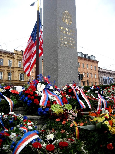 Photo of 'Thank You America' Liberation Monument in Plzen