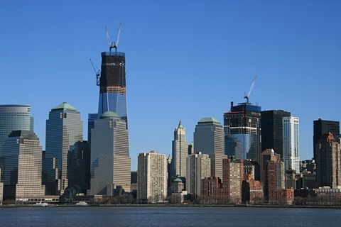 Lower Manhattan, from Liberty Park, New Jersey, February 20, 2012