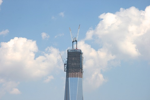 top of WTC 1, September 1, 2012