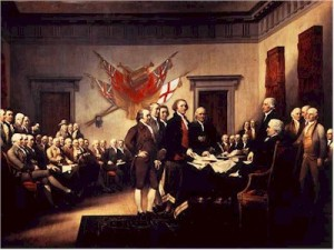 Signing of the Declaration of Independence, painted by John Trumbull