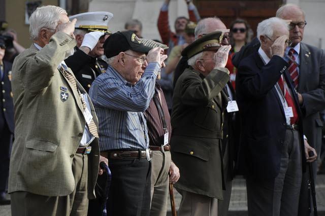 Veterans Salute at Plzen Liberation Day
