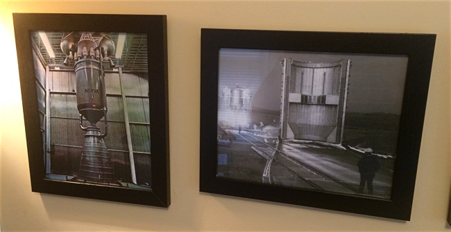 Framed photos of from the NERVA project